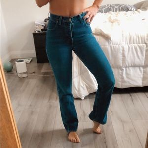 High Rise Guess Wide Leg Jeans